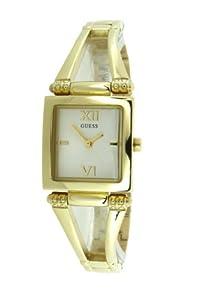 Guess W10247L1 - Reloj analógico de cuarzo para mujer con correa de acero inoxidable, color dorado de Guess