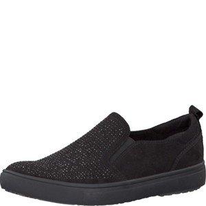 Tamaris Schuhe 1-1-24609-28 bequeme Damen Slipper, Slip On, Halbschuhe, Sommerschuhe für modebewusste Frau,, Tamaris Trend schwarz (BLACK), EU 42