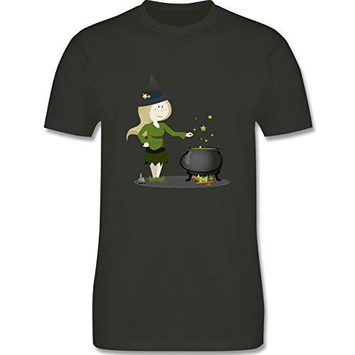 Halloween - kleine Hexe - Herren Premium T-Shirt Army Grün