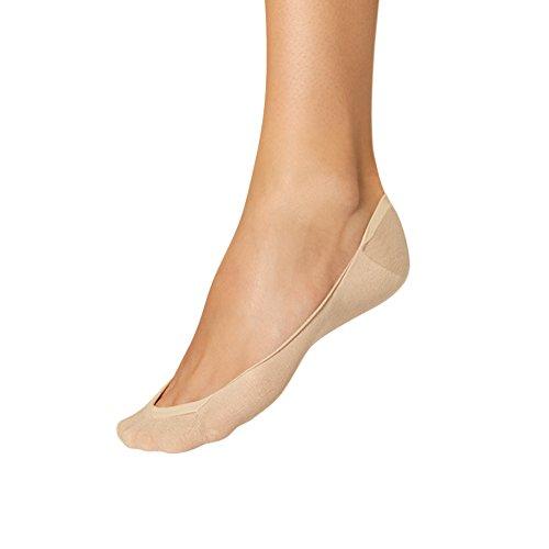 NUR DIE 5 Stück Füßlinge Ballerina Füßli Baumwolle Gr. 42-44 teint