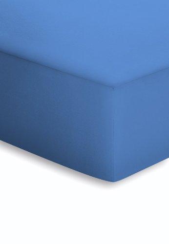 Schlafgut 005-161 Microfaser-Feininterlock Spannbetttuch / 180 x 200 cm, capri