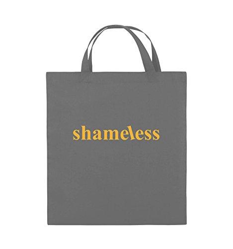 Comedy Bags - shameless - LOGO - Jutebeutel - kurze Henkel - 38x42cm - Farbe: Schwarz / Pink Dunkelgrau / Gelb