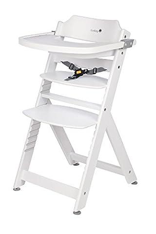 Safety 1st Timba Mitwachsender Hochstuhl, abnehmbares Tischchen, aus massivem Buchenholz, hohe Rückenlehne, ab ca. 6 Monate bis ca. 10 Jahre (max. 30 kg),