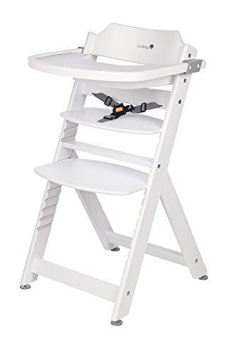 Safety 1st, Seggiolone in legno di faggio, con tavolino, Bianco (weiß), 6 mesi-10 anni