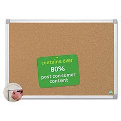 -- MasterVision Earth Cork Board, 48 x 72, Aluminum Frame by MOT3 (Cork Board Mastervision)