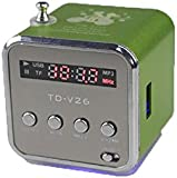 Generic TD-V26 Mini Digital Portable Music Player with Micro SD/TF/USB/FM Radio - Green