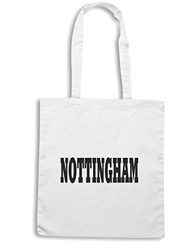 T-Shirtshock - Borsa Shopping WC0727 NOTTINGHAM Bianco