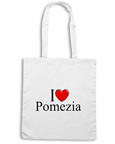 T-Shirtshock - Borsa Shopping TLOVE0043 i love heart pomezia Bianco