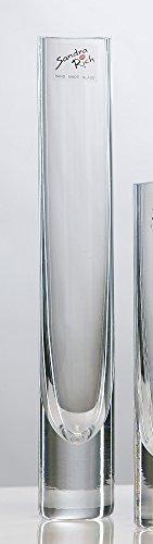 Glasvase Solifleur klar zylindrisch 26 cm Ø 4 cm cold cut von Sandra Rich