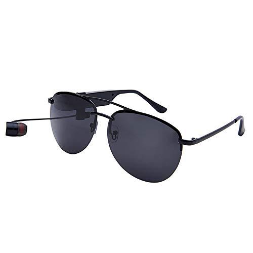 KASIQIWA Intelligente Bluetooth-Sonnenbrille, veränderbare HD TAC-polarisierte Brille mit Kopfhörer HiFi-Klangqualität Bluetooth-Verbindung für Reisen,Black