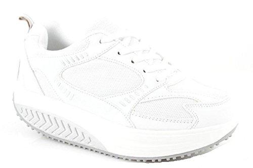 Scarpe Dimagranti Uomo Bianco 40 In Eco Pelle