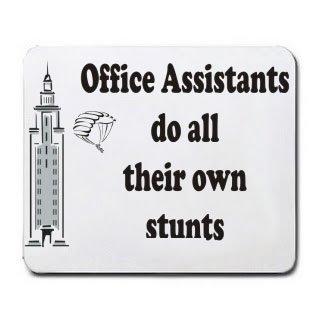 Büro Assistenten Do All Ihrer eigenen Stunts Mousepad [Office (Sexy Assistenten)