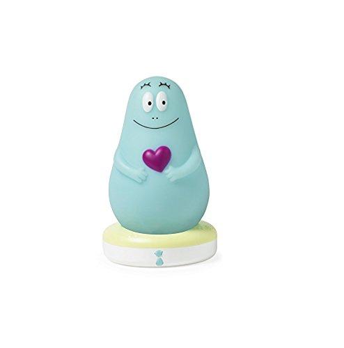 Pabobo - Lumilove Barbapapa - Veilleuse Nomade Bébé et Enfant - Chargeur Induction - Bleu
