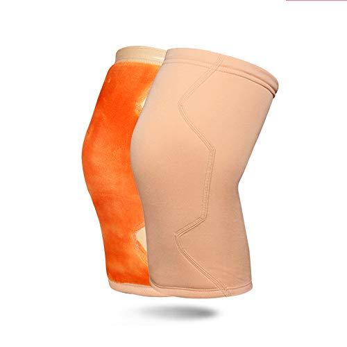 Kneepad Wärme Verdickung Leggings Männer und Frauen Herbst und Wintersport Basketball Schutzausrüstung Plus Samt Knieschützer (Color : Skin Tone, Größe : M)