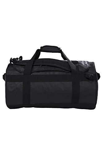 Mountain Warehouse 60-l-Transporttasche - Tages-/Rucksack, 3 Tragemöglichkeiten, robuste Riemen, Taschen, weiche Griffe, 1 Fach - für Reisen, Camping, Festivals, Frühling Schwarz