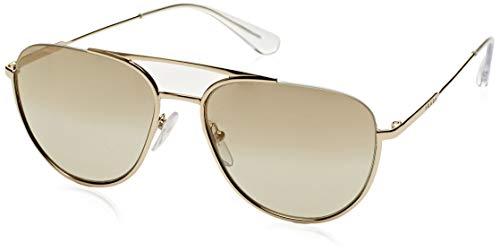 Prada Herren 0PR50US ZVN6O0 56 Sonnenbrille, Pale Light Brown Gold