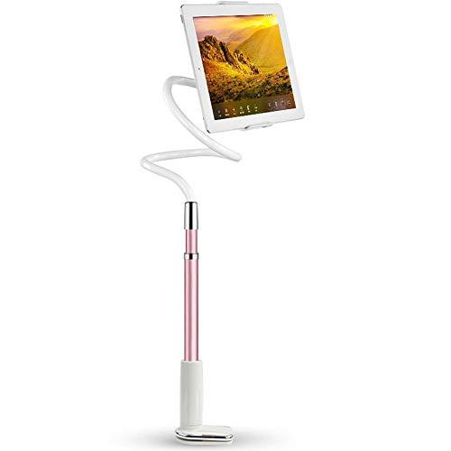 ablet Clip Holder Adjustable Universal Gooseneck Smartphone Stand Lazy Bracket Mehr 4-10,6 Zoll Geräte,Pink ()