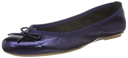 Tamaris Damen 22165 Geschlossene Ballerinas, Blau (Navy Metallic), 39 EU