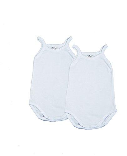 BabyVip – Body Bimbo Bimba Neonato Neonata Spalla Stretta 100% Cotone Costina PZ. 2