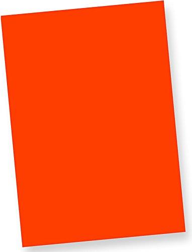 Tatmotive Neonpapier Fine50 Extrem Grell NEON DIN-A4, 80 g/qm farbiges Briefpapier, Leuchtpapier, 100 Blatt - Feuerwehr-Rot