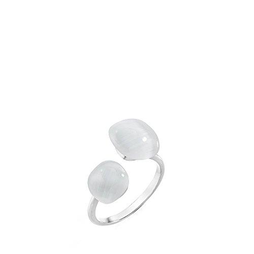 MORELLATO Damen-Ringe 925 Sterlingsilber mit Kissenschliff Katzenauge - Ringgröße 56 (17.8) SAKK35016
