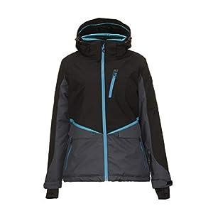 Killtec Damen Dorya Skijacke / Snowboardjacke / Funktionsjacke mit abzippbarer Kapuze und Schneefang