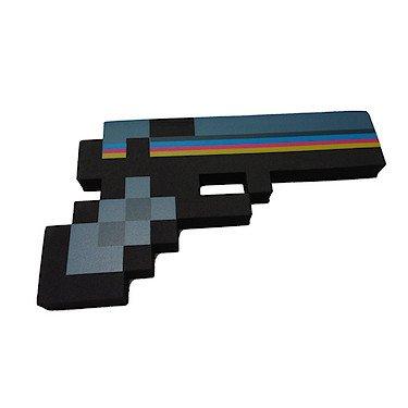 Kostüme Für Minecraft (8-Bit Pixel Schaumpistole - Schwarz [UK)
