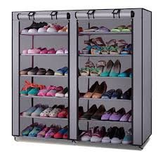 HOUZIE 6 Layer & 2 Column 12 Shelf Shoe Organizer Cum Cloth Cabinet with 20 Year Warranty(Assorted Colour,Made in India)