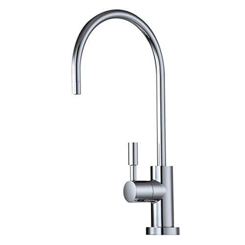 Trinkwasser Filter Wasserhahn, Chrom Schwanenhals Moderner Europäischer Stil Für Alle Wasserfilter Systeme & RO -
