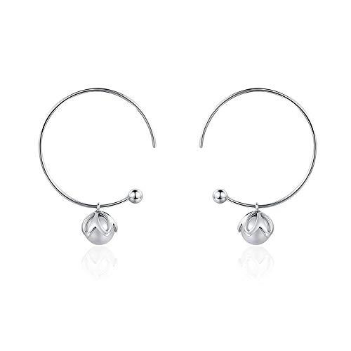 Orecchini pendenti in argento sterling 925 con perla d'imitazione romantica, a forma di bocciolo d'amore, in argento sterling, idea regalo