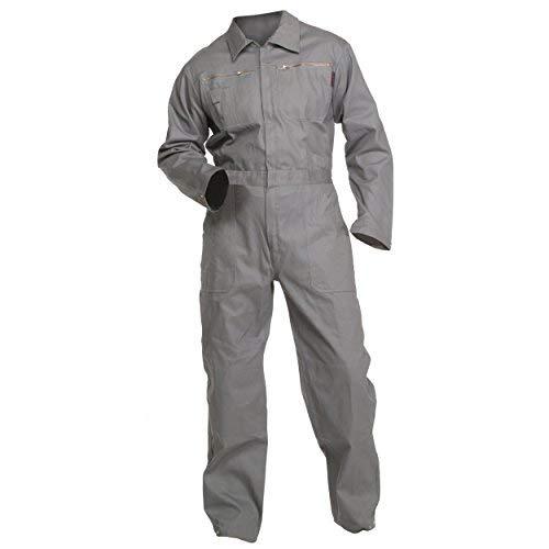 Charlie Barato Arbeitsoverall grau - waschfester Overall, Robuster Arbeitsanzug für Herren & Damen - Unisex (58)