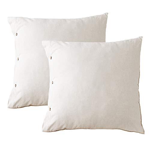 Bedsure Tencel Leinen Kissenbezüge Set 80 x 80 cm Natur Farben - 2 Stück Seidig Weiche, Hypoallergen Atmungsaktive Kopfkissenbezüge für Allergiker geeignet -