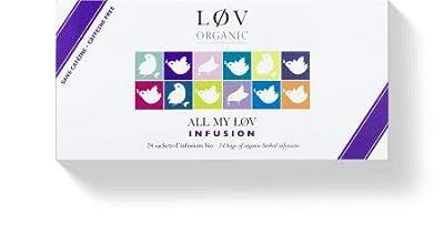 Løv Organic - Coffret d'infusions bio All my Løv - Coffret de 24 sachets en PLA fabriqués en France - Mélanges issus de l'Agriculture Biologique - Sans théine