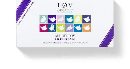 Geschenkset All my Løv ohne Teein und Koffein - Auswahl von 24 einzeln verpackten Teebeuteln