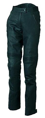 BERING Pantalon Moto pour Femme, Noir, XL