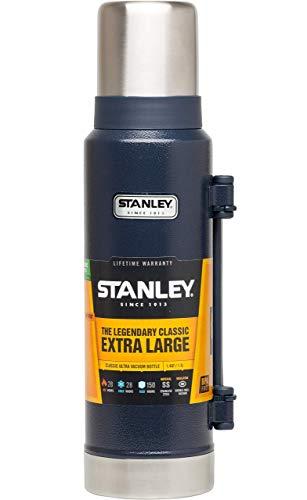 Stanley Vakuum-Thermoskanne, 1.3 Liter, 18/8 Stainless Edelstahl, Integrierter Thermobecher, Doppelwandige Isolierung Isolierflasche Isolierkanne Kaffeekanne