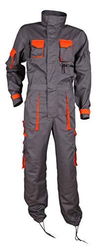 Stenso Desman® - Herren Arbeitsoverall mit vielen Taschen/Cargo - Grau/Orange 50 - Low-taschen