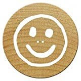 Woodies WM0507 Mini Tampon Smiley Bon, Bois, 1,5 x 1,5 x 3 cm