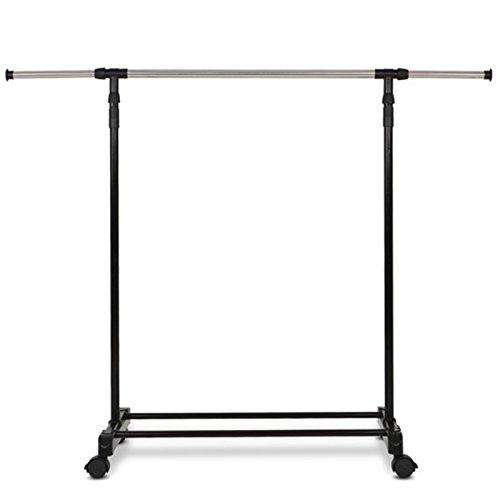 Verstellbarer Stahl Doppel kleiderständer mit rollen,kleiderständer stabil und belastbar