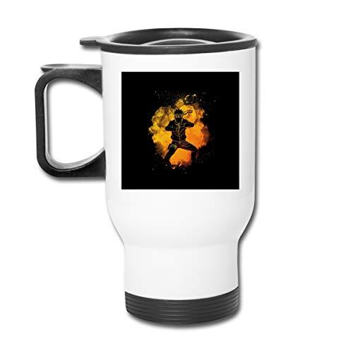 Naruto Soul of The Ninja Doppelwandige Vakuum-Kaffeebecher mit spritzwasserfestem Deckel für heiße und kalte Getränke