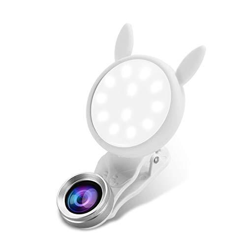 Handy Objektiv 3-in-1-Objektiv Fülllicht 0,62 Weitwinkelobjektiv Makroobjektiv Externes Objektiv Geeignet für Samsung/Android/die meisten Smartphones und Tablets