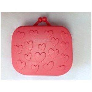 Sac à main rose lentilles de contact Kit de voyage Étui avec pince à épiler et miroir intégré