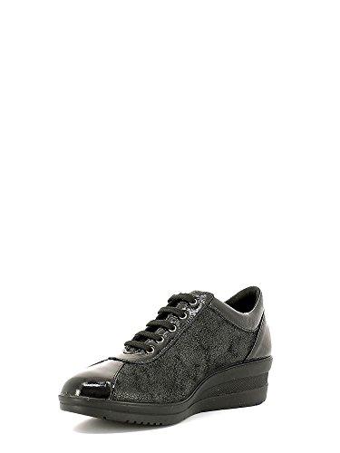 ENVAL , Chaussures de ville à lacets pour femme Noir