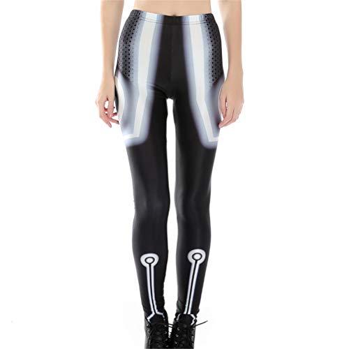 Ulq.j pantaloni con stampa 3d di armatura leopardo harajuku punk vita alta push up spandex plus size fitness leggings pantaloni donna m