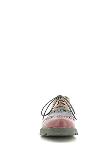 LUNATIC EBONY Scarpa Donna allacciata The Flexx pelle multicolor Bordeaux
