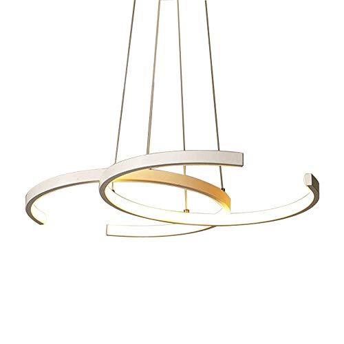 hte Esstisch Hängeleuchte 38W Küchen Insel Hängelampe Modern Landhaus Stil Acryl Lampenschirm Design Kronleuchter Wohnzimmer Deckenleuchte Esszimmer Lampe 55 x 35 x 3cm,3000K ()