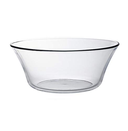 HHXWU Vaisselle Bol de Riz Bol Grande capacité en Verre Bol à Fruits Bol à Salade Bol à Fruits Bol à Nouilles 2.2L, Transparent