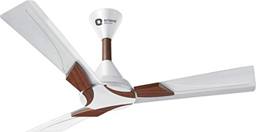 Orient Electric Wendy 1200mm Ceiling Fan (Pearl White/Walnut)