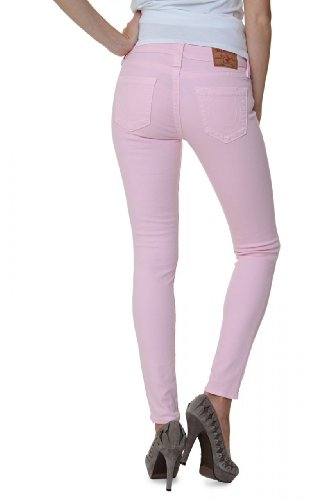 True Religion Damen Jeans Skinny Skinny Jeans Halle Higher Rise SKINN Wash QY Baby PINK, Farbe: Rosa, Größe: 27 -