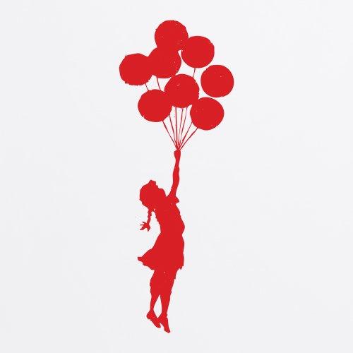 Banksy Balloon Girl T-Shirt, Damen Wei